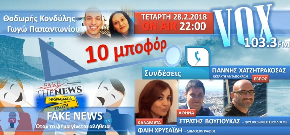 """Read more about the article """"10 μποφόρ"""" VOXFM 103,3 