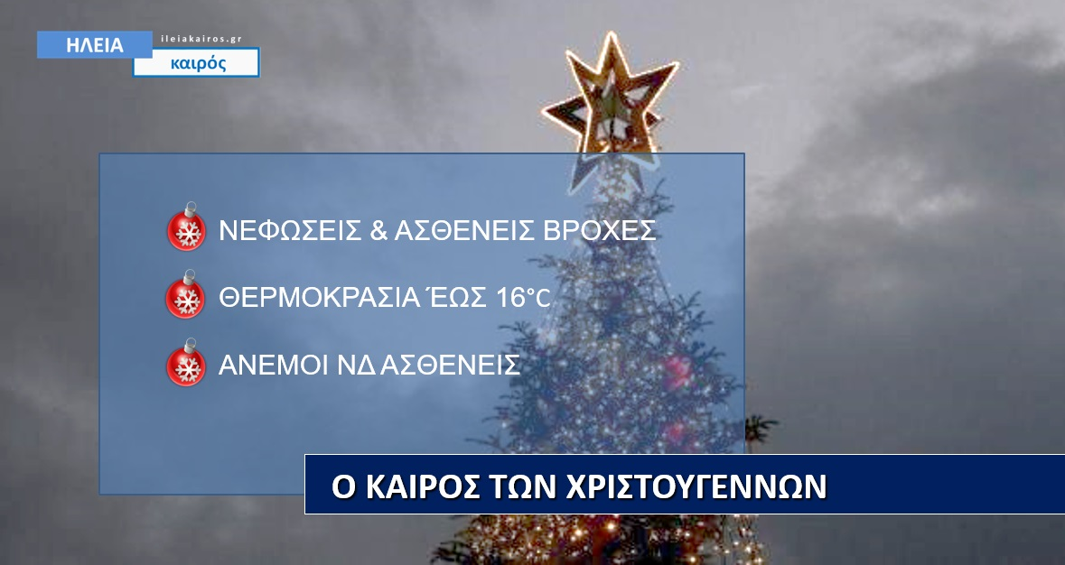 Read more about the article Ηλεία: Ο καιρός των Χριστουγέννων